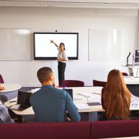 Salle de classe presentation ecran interactif
